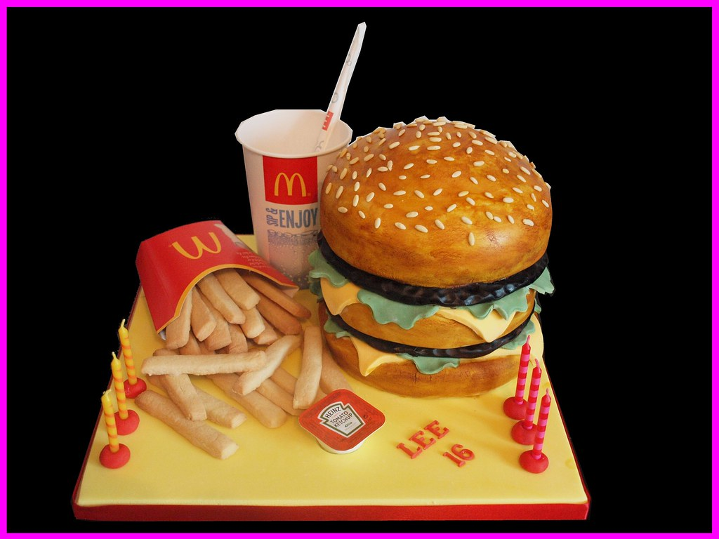 big mac and fries cake this was for a good friend of my da flickr. Black Bedroom Furniture Sets. Home Design Ideas