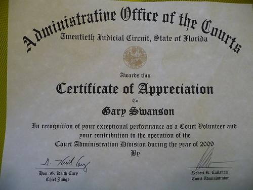Certificate Of Appreciation Certificate Of Appreciation