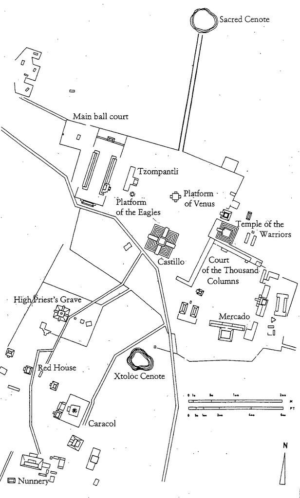 QA A Plan Of Chichen Itza Yucatan Mexico Fig Flickr - Chichen itza map