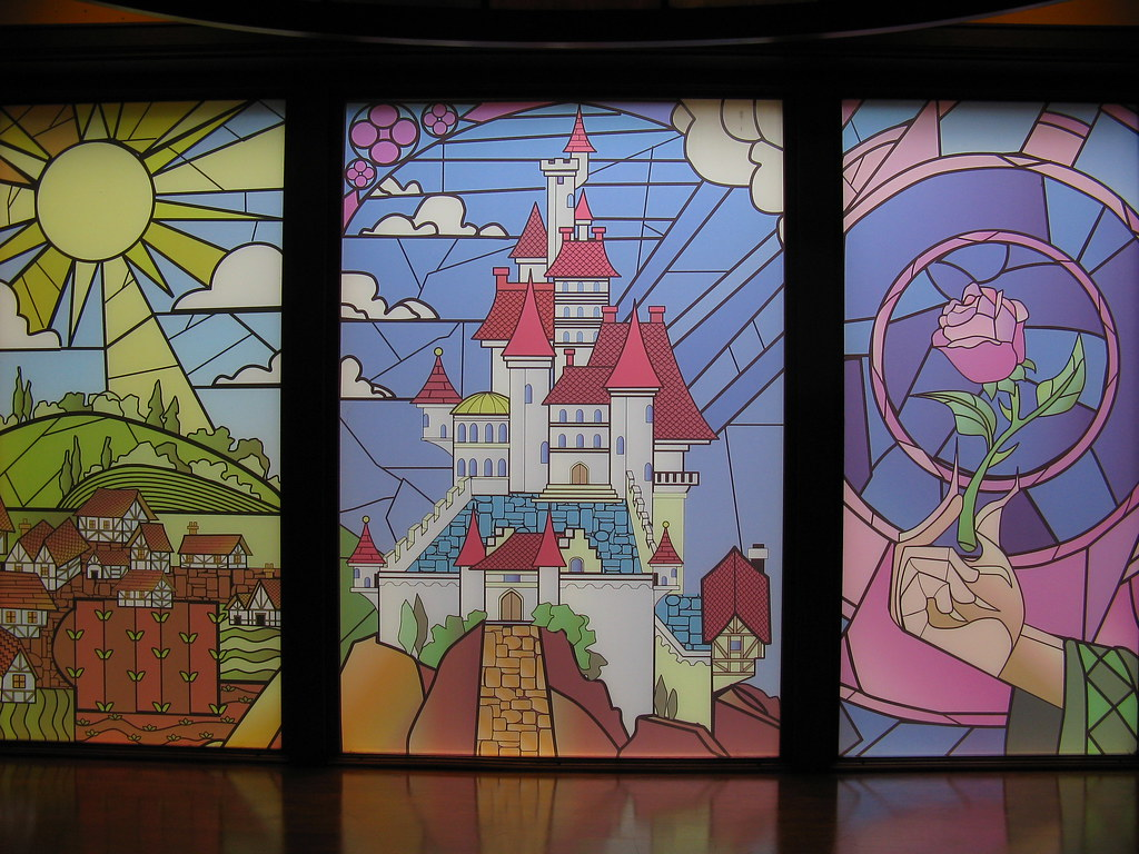 Stained Glass Window France Pavilion Epcot Walt Disney