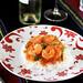 Shrimp sauté in tomato sauce