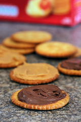 Ritz crackers with Nutella and peanut butter 7543 R | by nicisme