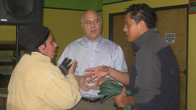 MHCC Student, Jonatan Lopez translates for Labor Commissioner Brad Avakian