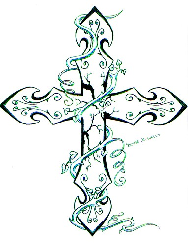 Cross Tattoo by Denise A. Wells | Updated this one ...