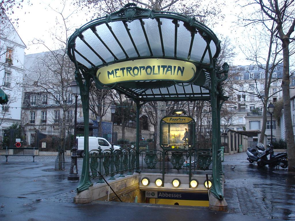 paris metro abbesses ancienne bouche du m tro h tel de vil flickr. Black Bedroom Furniture Sets. Home Design Ideas