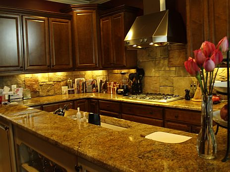 Kitchen Backsplash Rock delighful kitchen backsplash rock with black granite countertops