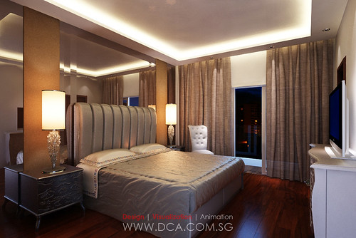 Master bedroom 3d rendering 3d visualization services - Salon master specialise ...