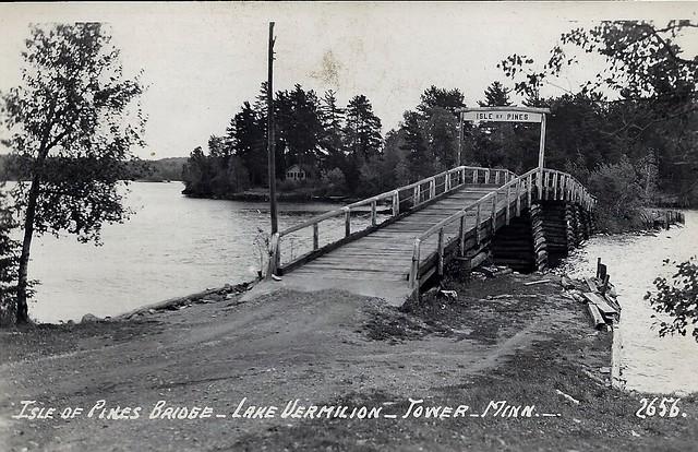 postcard isle of pines bridge lake vermilion tower mn. Black Bedroom Furniture Sets. Home Design Ideas