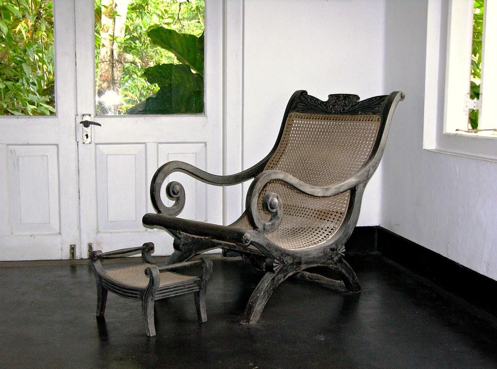 ... Reclining Chair U0026 Footstool, Brief, Bevis Bawa House, Bentota, Sri  Lanka  