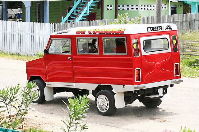 Skeldon-Guyana  Tapir- Local Taxi Service At Corriverton -3040