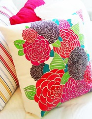 hand painted throw pillow cover | by club35