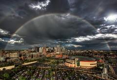 Denver Skyline Double Rainbow by TVGuy