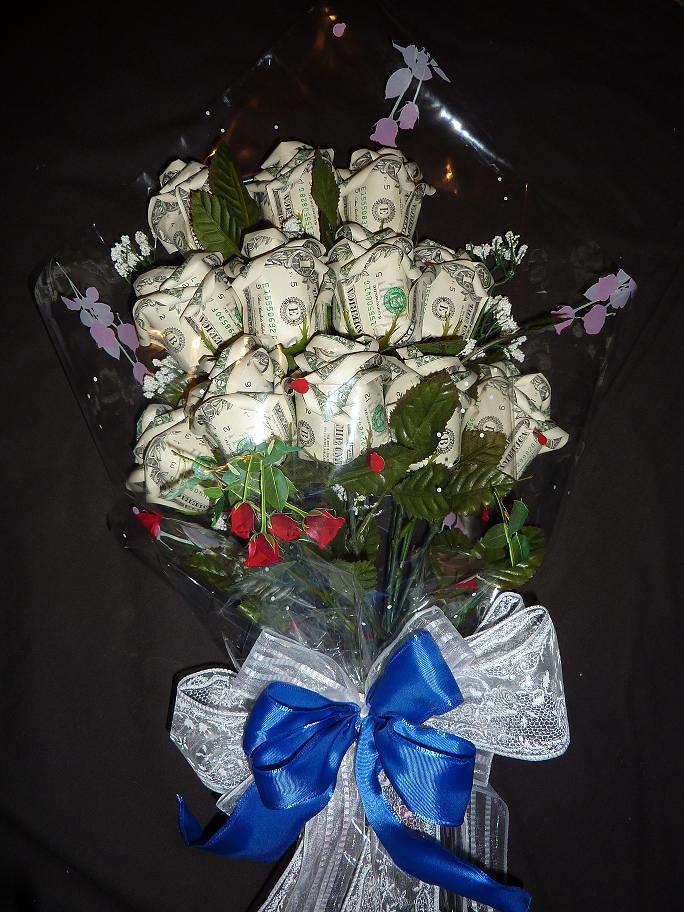 Money rose bouquet   A dozen for Pat   fe mendiola   Flickr