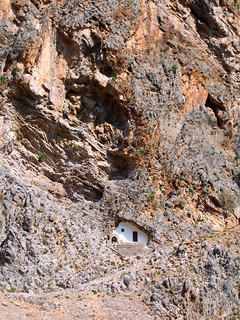 Crete - Samaria Gorge - Near end - Chapel in mountain wall near Aghia Roumeli | by oniroi