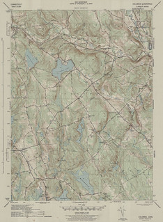 Columbia Quadrangle 1943 - USGS Topographic 1:31,680 | by uconnlibrariesmagic