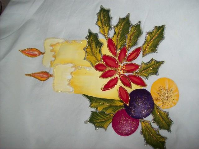 Motivo navidad pintura en tela flickr photo sharing - Pintura en tela dibujos ...