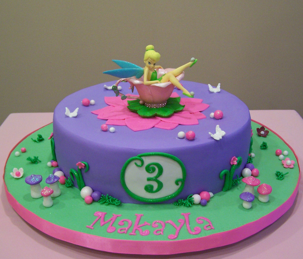 Tinkerbell Buttercream Cake