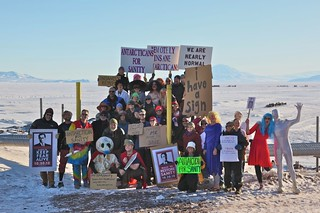 rally to restore sanity, antarctica | by sandwichgirl