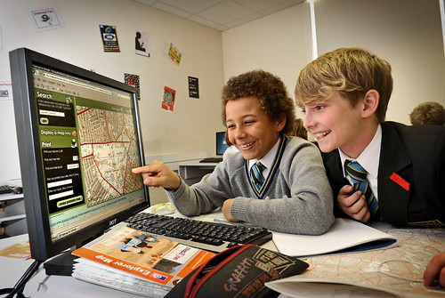 Pupils at Graveney School using Digimap for Schools | by Ministry of Housing, Communities and Local Govt