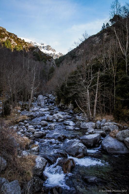 El riu Freser desde el Pont de Daió