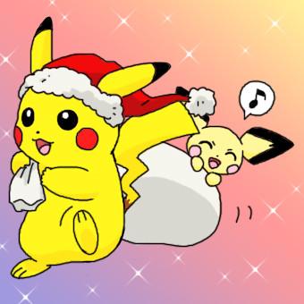 ピカチュウとピチュー(クリスマス)