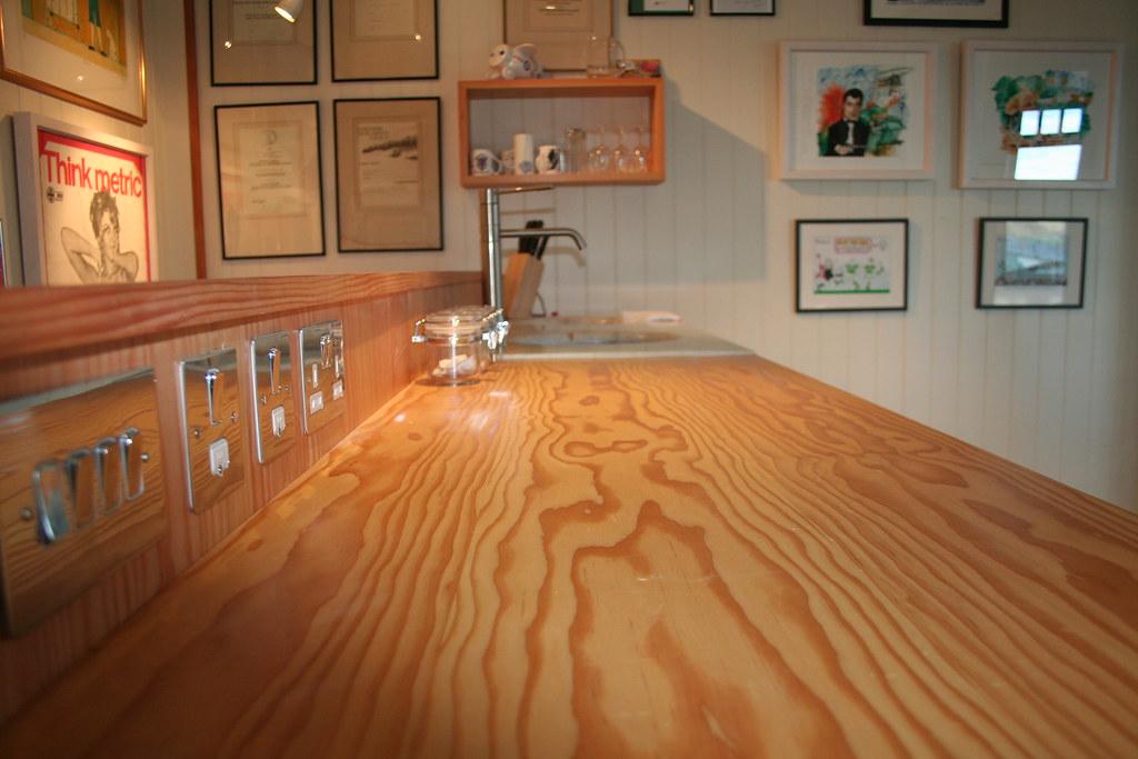 White Kitchen Wood Worktop