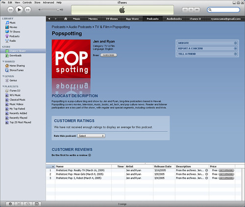Popspotting in iTunes | by popspotting