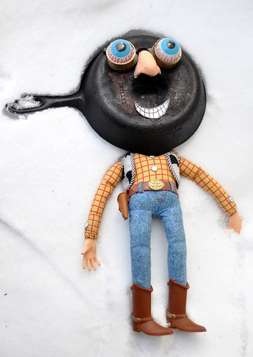 Skillet Headed Woody on Snow | by ricko