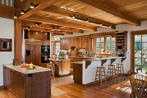 The Tuscany III Timber Frame Home Kitchen This Open