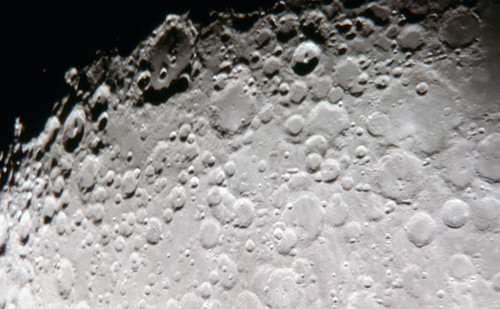 Closeup of Moon Surface Showing Craters | by J.D. Knight