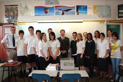 Late February - The Year 12 History class at Pakuranga College and Ambassador Huebner | by US Embassy New Zealand