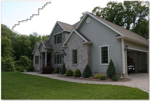 Front of house landscaping landscape design project - Landscape in front of house ...