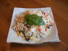 Fresh Veggie Rice Salad | by Blissful Begonia