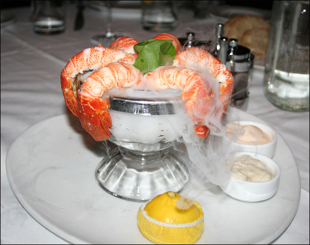 Lobster Tail Appetizer | With frozen carbon dioxide to keep … | Flickr