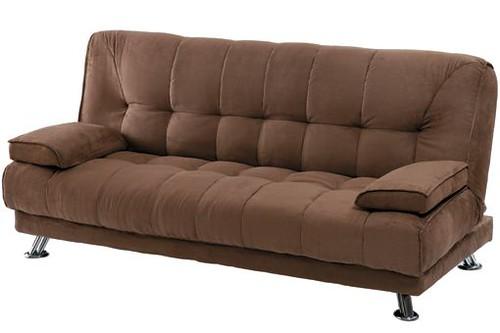 Sofas cama tipo clic clac de color marron shiito hogar for Sofas cama clic clac baratos
