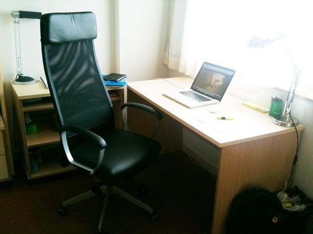 H la pues ya termin de montar mi nueva silla de ikea ma - Silla markus ikea ...
