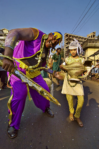 Goa Carnival carnaval - Portrait of a Mighty Big Genie just about fitting in the frame ! | by Anoop Negi