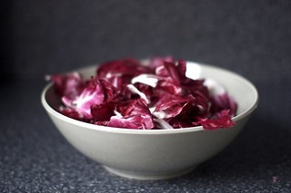 torn radicchio leaves, piled | by smitten kitchen