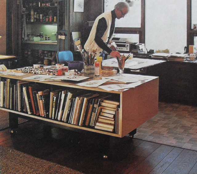 Home Office And Studio Designs: 1960s Artist Studio Art Vintage Interior Design Photo