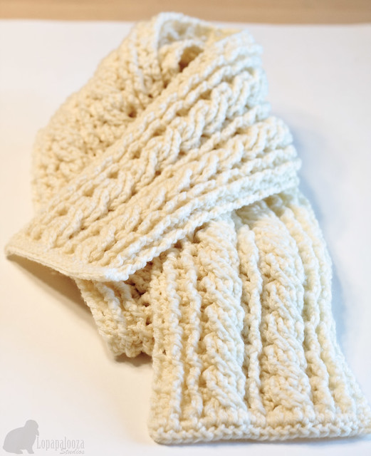 Crocheted Cable Scarf This Pattern Was Created By Hillary Flickr