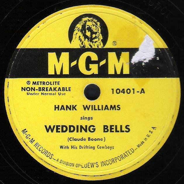 Hank williams wedding bells lyrics