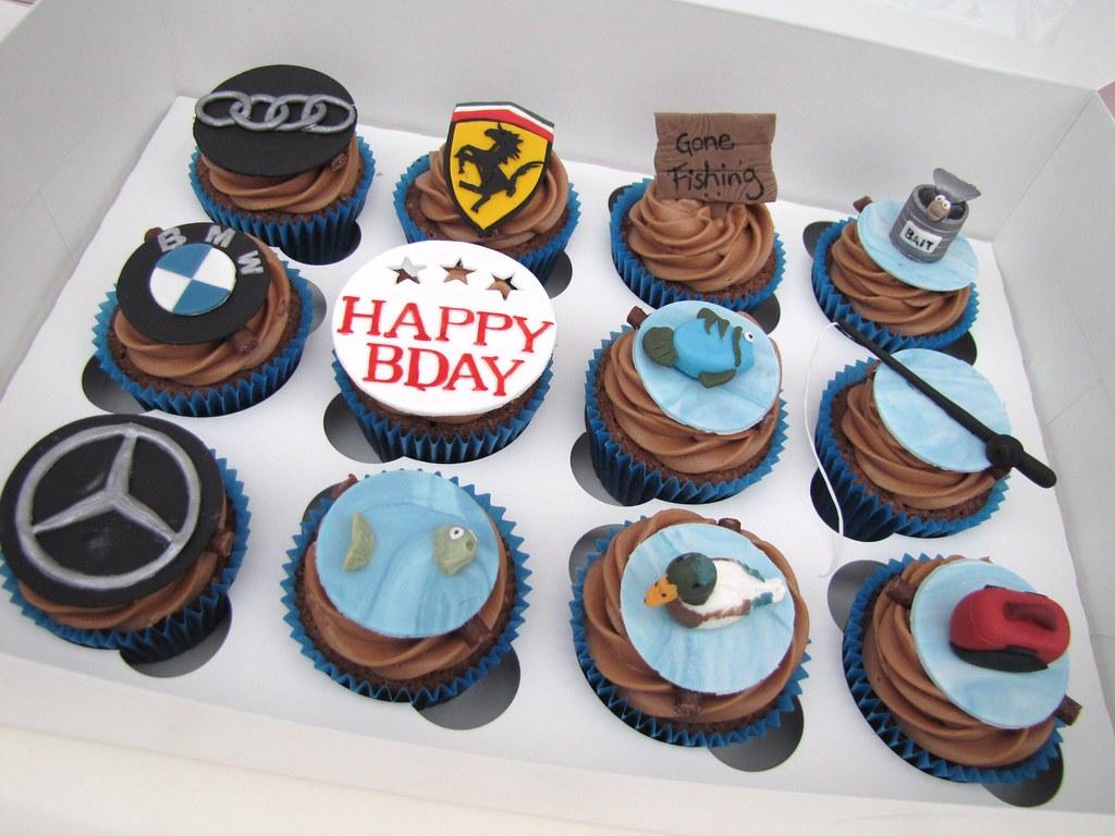 Cars Amp Fishing Cupcakes Orange Amp Chocolate Cupcakes With