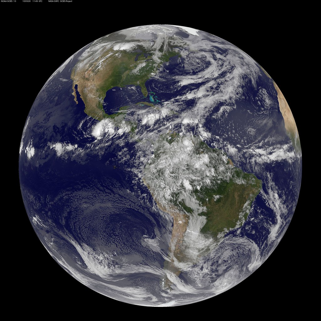Nasa Goes 13 Full Disk View Of Earth May 28 2010 Nasa