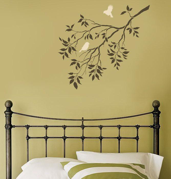 Reusable Wall Stencils. Birds on a Branch. Beautiful wall … | Flickr