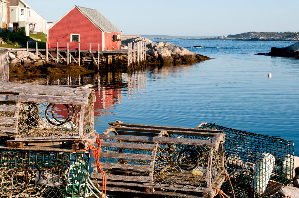 Lobster pots, Peggy's Cove, Nova Scotia | Old, well used lob… | Flickr