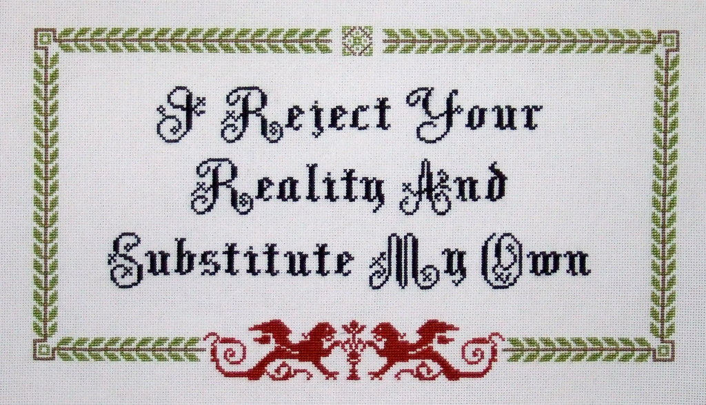 Cross Stitch Alphabet Charts: I reject your reality and substitute my own | A pastime to ru2026 | Flickr,Chart