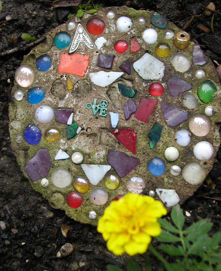 Love stone by the jesus lillies there are several of these flickr - Garden stone decorations ...