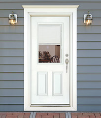 entry door mini blinds. feather river door fiberglass entry doors - mini blinds smooth white   by s