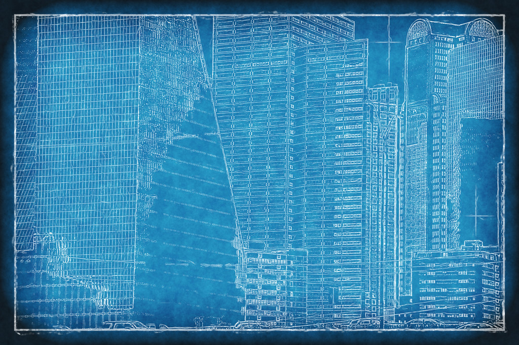 Dallas texas skyline blueprint skyscrapers fountain place flickr dallas texas skyline blueprint skyscrapers fountain place buildings downtown architecture photographer 194330 by david kozlowski malvernweather Image collections