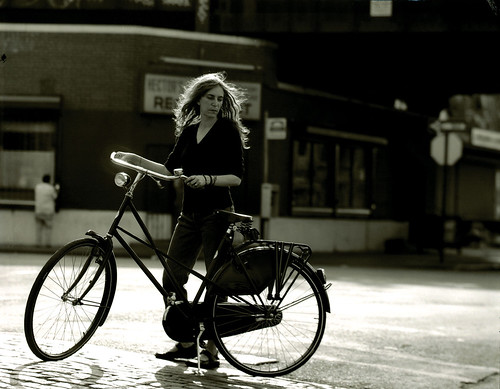 Patti and her bicycle. Meatpacking District, New York, NY. 1999. | by POV Docs